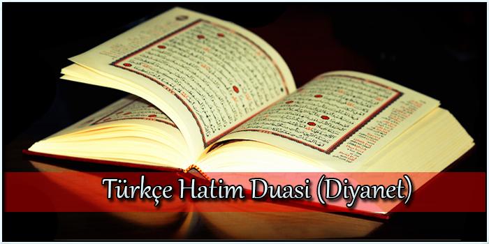 Türkçe Hatim Duası (Diyanet)