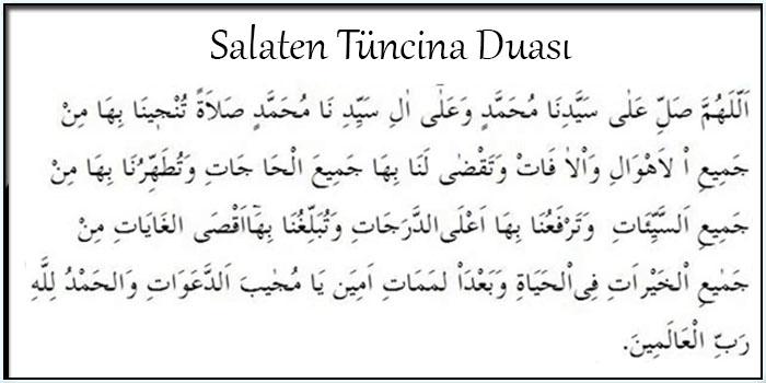 Salaten Tüncina Duası