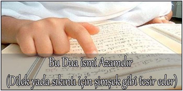 Bu Dua ismi Azamdır