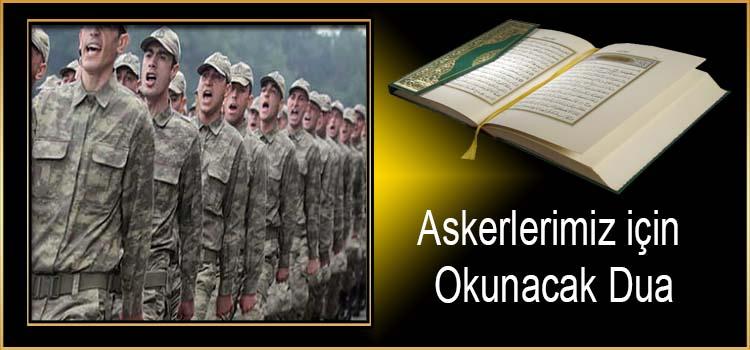 Askerlerimiz için Okunacak Dua