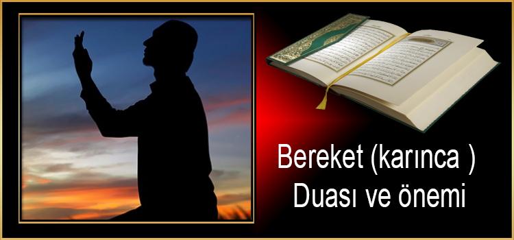 Bereket(karınca ) Duası ve önemi